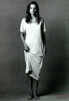Bridget Hall shot by Steven Meisel for Vogue Italia 1999