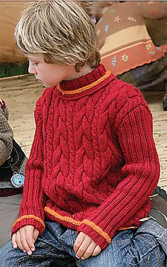#B64 Boy's Cable Sweater  by Verena Design Team