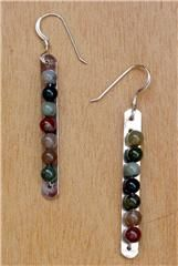 Jasper Silver Earrings - mine design jewelry in grand lake co #jewlery  $44.00