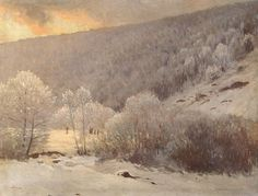 Winter, by Pal Szinyei Merse on Curiator, the world's biggest collaborative art collection. Contemporary Artists, Modern Art, National Gallery, Winter Painting, Snow Scenes, Hanging Art, Landscape Paintings, Landscapes, Landscape Art