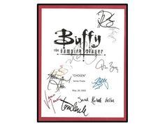 Buffy The Vampire Slayer TV Script Signature Autograph Sarah Michelle Gellar, Nicholas Brendon