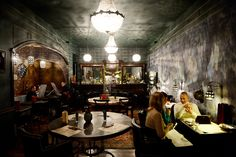 Where to Go in St. Petersburg ~One of the city's main restaurant destinations in central St. Petersburg, Rubinstein Street, has seen a fresh wave of dining establishments within the last year and a half. With great food and elegant, whimsical interiors, these new spots make the most of the city's beautiful Old World architectural spaces, drawing a hip, creative-class crowd. #St_Petersburg #Restaurants #Rubinstein_Street