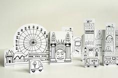 Paper City Sydney Opera House and Luna Park templates Art For Kids, Crafts For Kids, Arts And Crafts, Printable Crafts, Printables, Free Printable, Printable Paper, National Art School, Cultures Du Monde