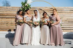 """Quisha and her girls looked absolutely fabulous in their @morileewedding gowns! 🤩 Bride: Mori Lee Bridesmaids: Mori Lee in """"Fawn"""" & """"Latte"""" #cincinnati #cincinnatibridalstore #cincinnatibridesmaids #midwestbridal #ohiobride #readingbridaldistrict #bridalandformal #bridesmaids #bridesmaiddresses #bridesmaidgoal #bridesmaidscollection #bridesmaidsinspiration #idocrew💍 #cantsayyeswithoutyou #bridetribe💍 #maidsmonday #realwedding #morilee #morileebride #morileebridesmaids Mori Lee Bridesmaid, Bridesmaid Dresses, Wedding Dresses, Bridesmaids, She Girl, Bridal And Formal, Absolutely Fabulous, Real Weddings"""