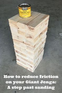 Diy build a giant jenga set for only 11 super easy crafts tips on making a better giant jenga solutioingenieria Gallery