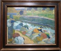 """Paul Gauguin, """"Washerwomen,"""" 1888. From the William S. Paley collection shown at the Crystal Bridges Museum of American Art."""
