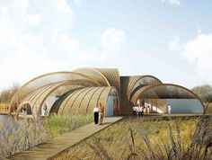 Atelier CMJN: Plans for Sustainable Great Fen Visiting Center in Cambridgeshire, UK |