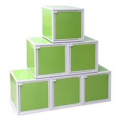 Easy-Storage College Cubes - Lime Green College Items Useful Dorm Organization Products For College Students