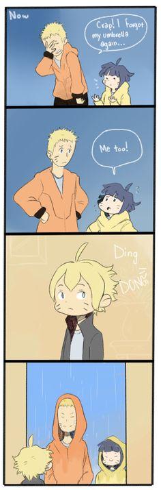 Naruto and himawari
