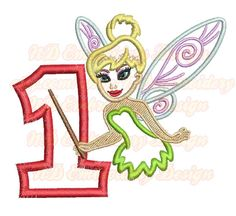 Flying Girl With Magic Stick Embroidery Applique