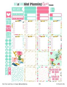 Hey Planner Girls!! I have created this beautiful printable this week that I have called Grace. I just LOVE this paper set I found at Free Pretty Things for You. I think it will look great for next…