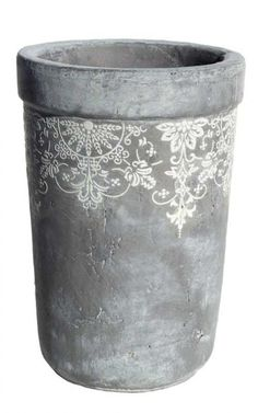 Concrete Lace Pot
