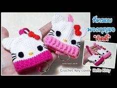 Crochet Key Cover, Easy Crochet, Crochet Dolls, Crochet Hats, Small Crochet Gifts, Crochet Stitches, Crochet Patterns, Hello Kitty, Crochet Keychain Pattern