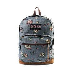 Jansport Right Pack Floral Backpack, Multi, at Journeys Shoes Puppy Backpack, Backpack Purse, Denim Backpack, Cute Backpacks, Girl Backpacks, Sac Jansport, Jansport Right Pack, Animal Bag, Floral Backpack