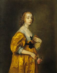 ca. 1636 - 'Portrait of Mary Villiers, Lady Herbert of Shurland' by Sir Anthonis van Dyck (Belgium, 1599-1644).  Timken Museum of Art, San Diego, California USA