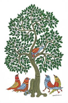 ideas for bird artwork inspiration wall decor Pichwai Paintings, Indian Art Paintings, Peacock Wall Art, Kalamkari Painting, Madhubani Art, Indian Folk Art, Madhubani Painting, Bird Artwork, India Art