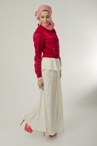 High Waist Pleated Maxi Skirt - Nahda Designs