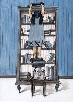 Discovering banned books / Descubriendo libros prohibidos (ilustración de Georgiana Chitac  #bannedbooks #bannedbooksweek #freedomtoread