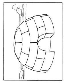 igloo coloring pages teachers - photo#7