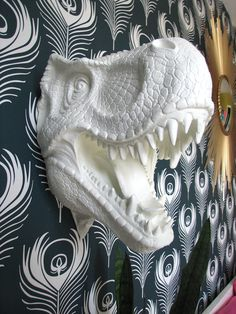 Faux Taxidermy: Toby the T Rex--this would be so cute in a little boy's room