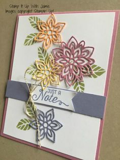 Flourish – Just a Note – Stamp It Up with Jaimie