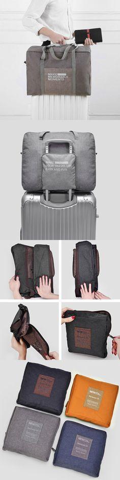 US$13.89  Nylon Luggage Bag Large Capacity Travel Storage Bag Outdoor Must-have Light Storage Bag