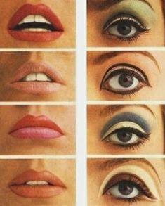 Vintage Makeup make up inspiration. Khol Eyeliner, Eyeshadow Makeup, Hair Makeup, Younique Eyeshadow, Makeup Younique, Makeup Lips, Glitter Makeup, Winged Eyeliner, Eyeshadows