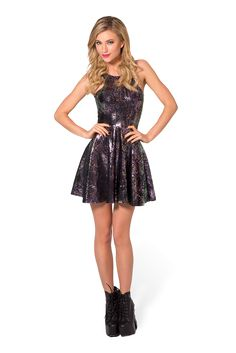 I Eat Oily Mice Reversible Skater Dress - LIMITED by Black Milk Clothing $80AUD