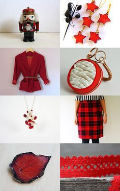 Christmas is Red by Ana Ribeiro on Etsy--Pinned with TreasuryPin.com  #PTteamEtsy #ChristmasColorsProject #EtsyEurope #Portugal