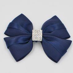 12 warna kualitas tinggi pita kristal boutique gadis wanita hair bows dengan klip jepit rambut untuk anak-anak gadis aksesoris rambut barrettes
