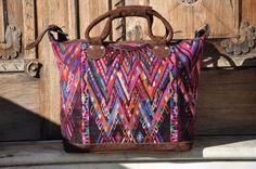 Mayan Star Weekender Bag Guatemalan Weekender by Tienditaboutique