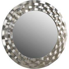 Schuller Modern Round Beveled Mirror