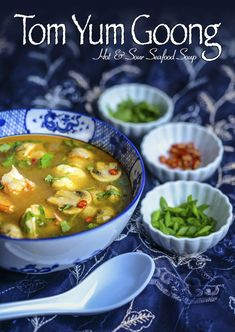 Tom Yum Goong (Hot and Sour Seafood Soup) from Southern Boy Dishes; this recipe was featured in the Seafood Soup, Seafood Recipes, Soup Recipes, Slow Cooker Recipes, Cooking Recipes, Eat Thai, Toms, Asian Soup, Asian Recipes