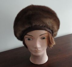 Vintage Gorgeous Medium Brown Mink Women Hat Large 22 3/4 inches Gemma Made in Canada by LoukiesWorld on Etsy