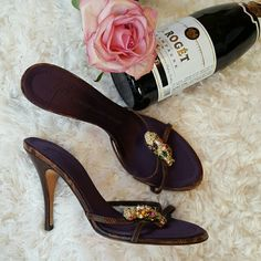 Jeweled Sandals Champagne anyone??!!! These heels are beautiful! It is with a heavy heart that I'm selling. They didn't fit my big feet. So I'm selling them for what I paid for them! A real Posh steal. Excellent condition as you can see. They are at the lowest, so no offers!!! Vicini Shoes Heels