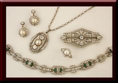 The finest in antique jewelry dating from the mid 1800's to the 1940's can be found at Barker's Antique Jewelry, Inc. The pieces shown on our website are just a small sampling of our extensive inventory.  While it is true that fine jewelry, especially antique jewelry should be seen and touched to be fully appreciated,