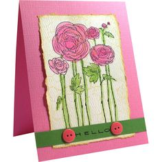 Stampendous Themes » Backgrounds & Borders » Cling Flower Fields - Would make great card for Dempsey Center