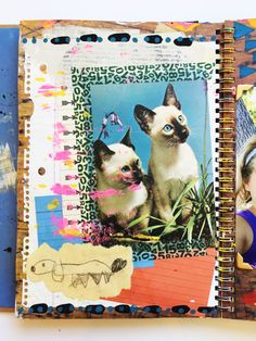 Art journaling with