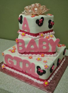 Minnie Mouse Baby Shower Cake I am going to try and make this cake for my shower!!!!