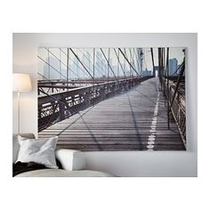"""""""The Brooklyn Bridge"""" print by IKEA! I would love to put this in my studio apartment bedroom"""