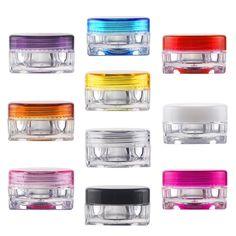 1/10pcs 3g Travel Empty Sample Cosmetic Bottle Plastic Refillable Bottles Skin Care Lip Balms Pot Container Free Shipping EG9269