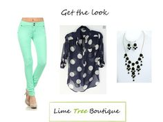 My friend Meloney's boutique...adorable clothes! Get the look www.limetreeboutique.com