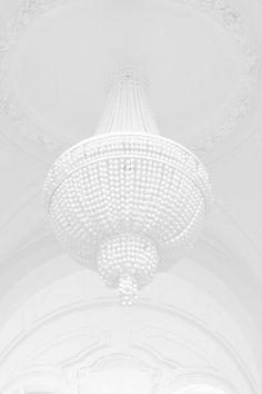 all white chandelier All White, White Art, Pure White, White Light, Snow White, Classic White, Light Blue, White Magic, Blanco White