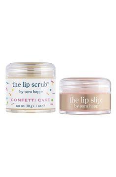 Confetti cake lip scrub -- yum!