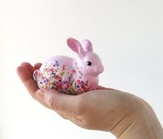 Bunny decor Gift for Easter Bunny rabbit Rustic by AnnaplusK