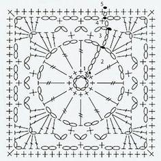 crochet large square chart