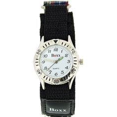 Boxx Unisex Children's Analogue Blue & Black Tartan Easy Fasten Sports Watch. A simple and sturdy wrist watch for boys, this is a high functioning timepiece which is suitable for every day wear. This watch is the ideal gift for him or her. Product Features: * Quartz Movement. * Luminous hour and minute and second hand. * Fully Adjustable hook and loop tape strap. Strap Measurements: * Length from one end of the strap to the other: 30cm. * Minimum Length: 18cm. * Maximum Length: 21cm. Also...