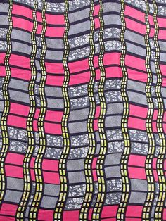 African Fabric Super Wax Print 6 Yards 100% Cotton sw091441