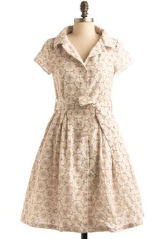 Modcloth Eye-Let it Ride dress. Perfect summer dress, maybe with some pink flats and a parasol?