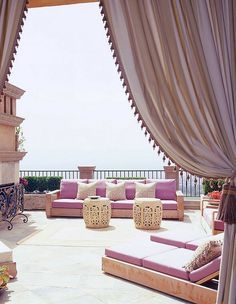 Fabulous Moroccan terrace exudes elegance and opulence